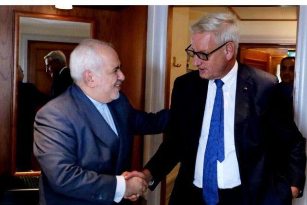 نخست وزیر اسبق سوئد با ظریف دیدار کرد