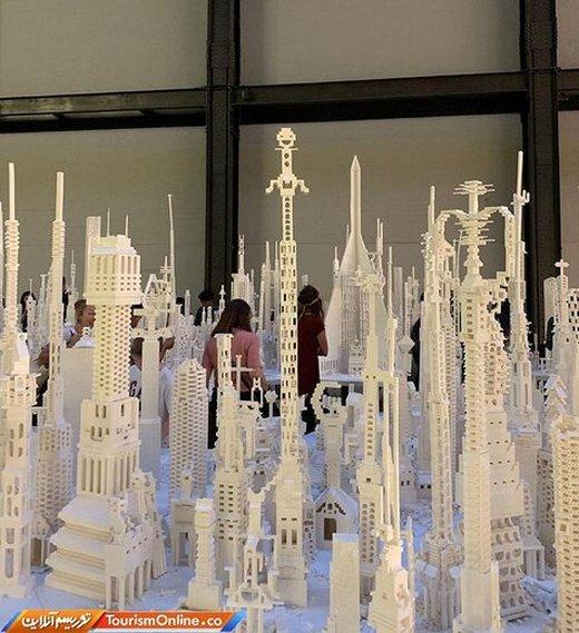 خلاقیت در شهرسازی با لگو در گالری مدرن لندن
