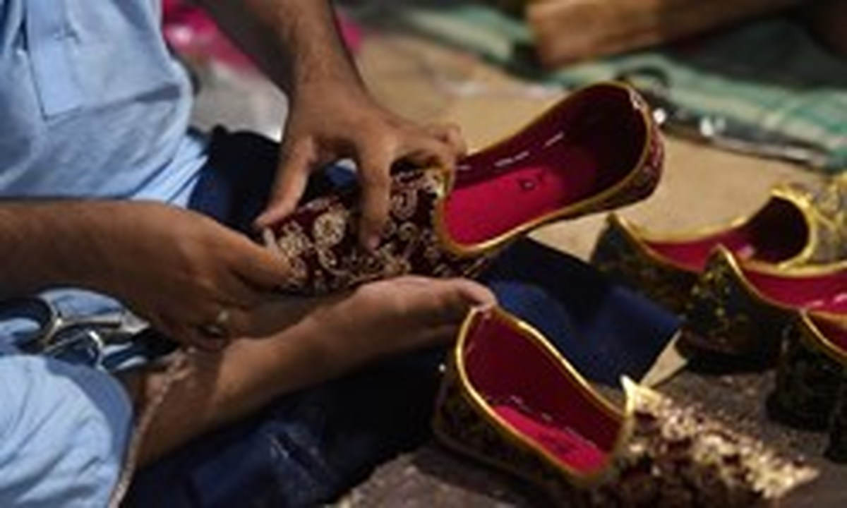 کفش سنتی مردم پاکستان در عید فطر
