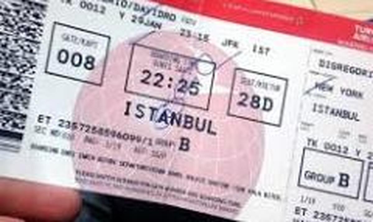 بلیط پرواز تهران - استانبول بالای ۱۰۰میلیون تومان
