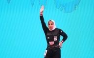 وزنه برداری قهرمانی آسیا| الهام حسینی شانس کسب برنز یک ضرب را از دست داد