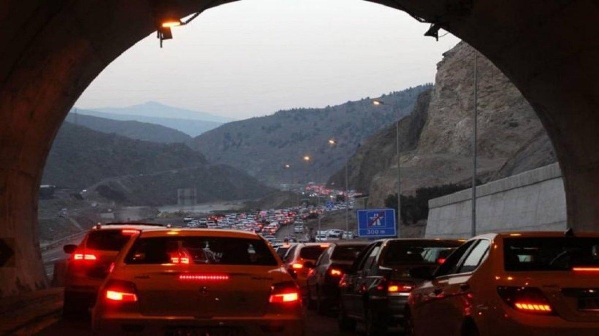 ترافیکی سنگین در محور هراز