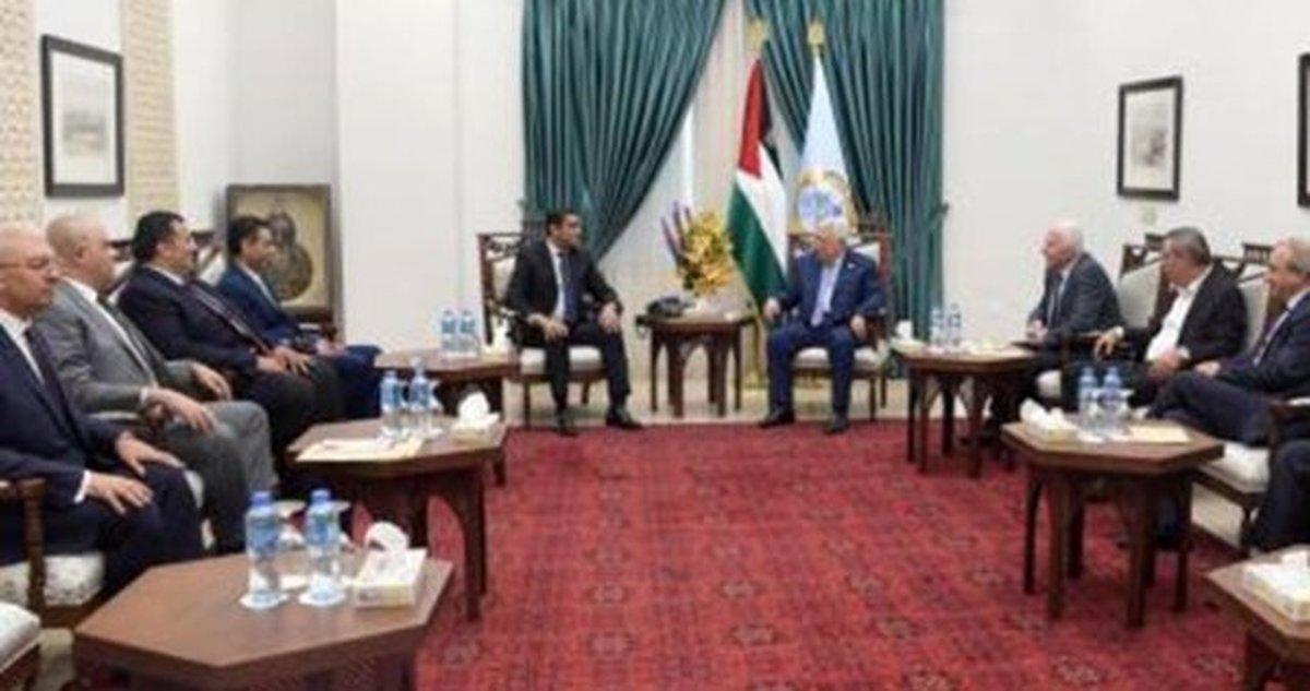 ملاقات هیئت امنیتی مصر با محمود عباس