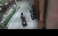 سرقت موتور در کمتر از ۱۰ ثانیه +فیلم