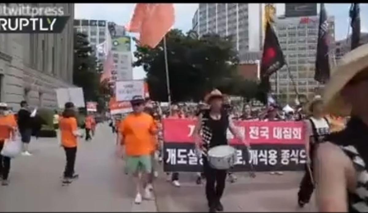 ویدیو: تظاهرات ضد «سگ خوری» در کره جنوبی