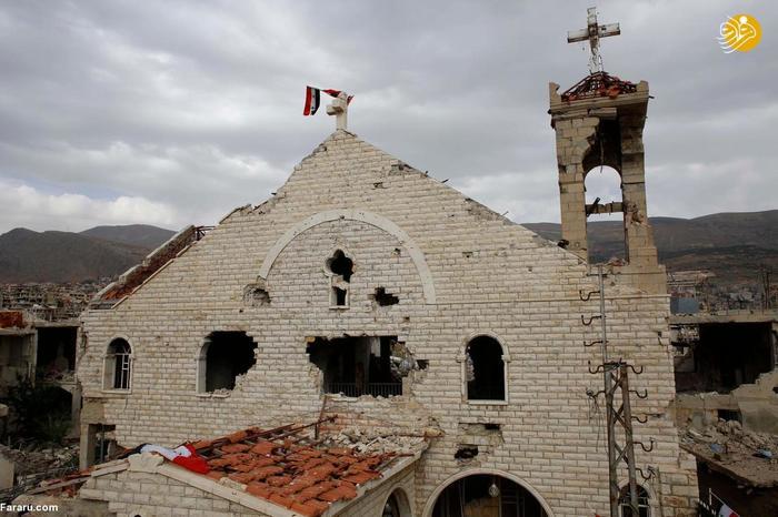 کلیساهای تخریب شده در جنگ سوریه