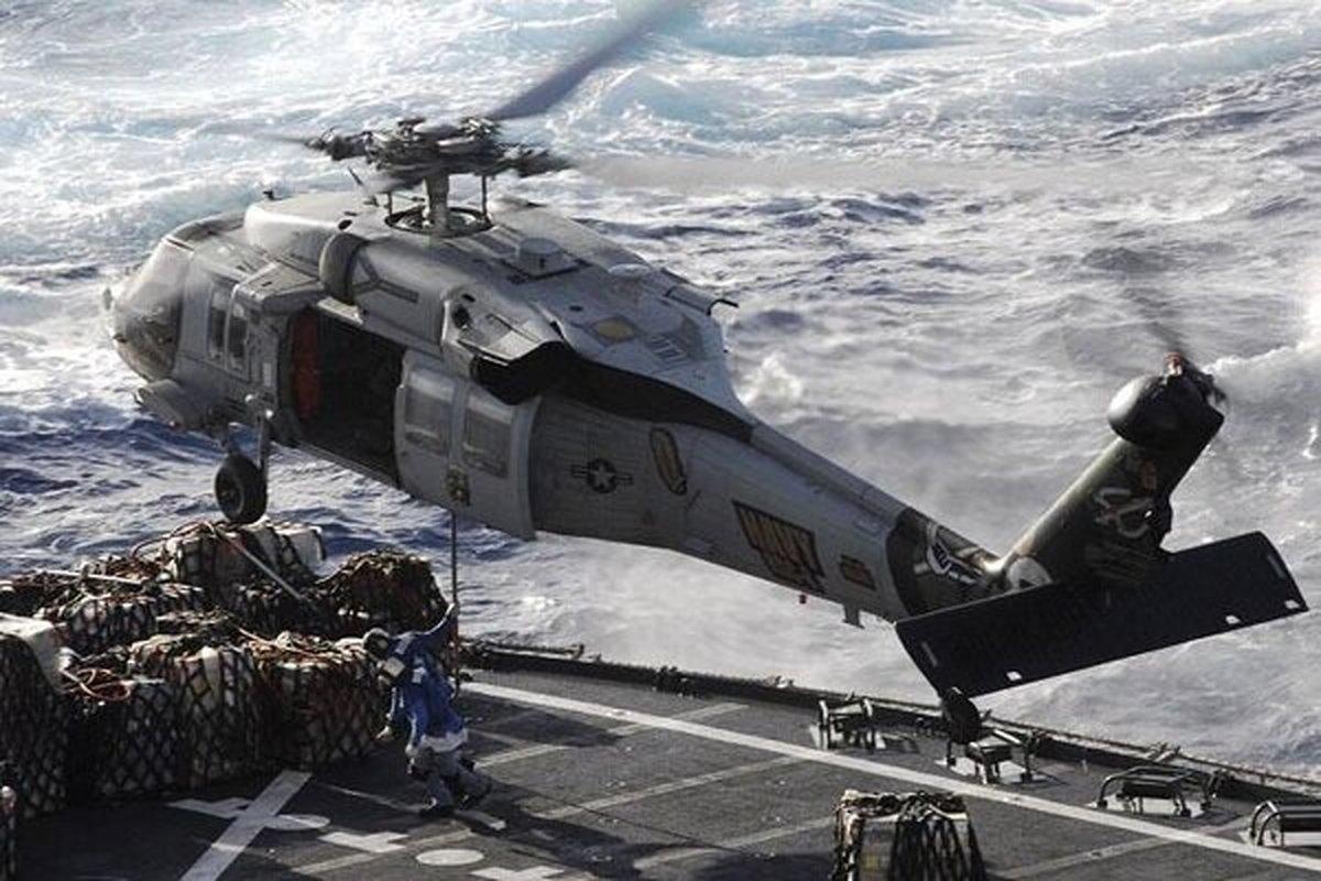 ۵ ملوان مفقود در حادثه سقوط بالگرد نظامی آمریکا، کشته شدهاند