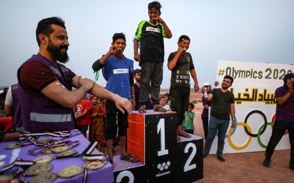 المپیکی چادری 2020 در بیابان های سوریه