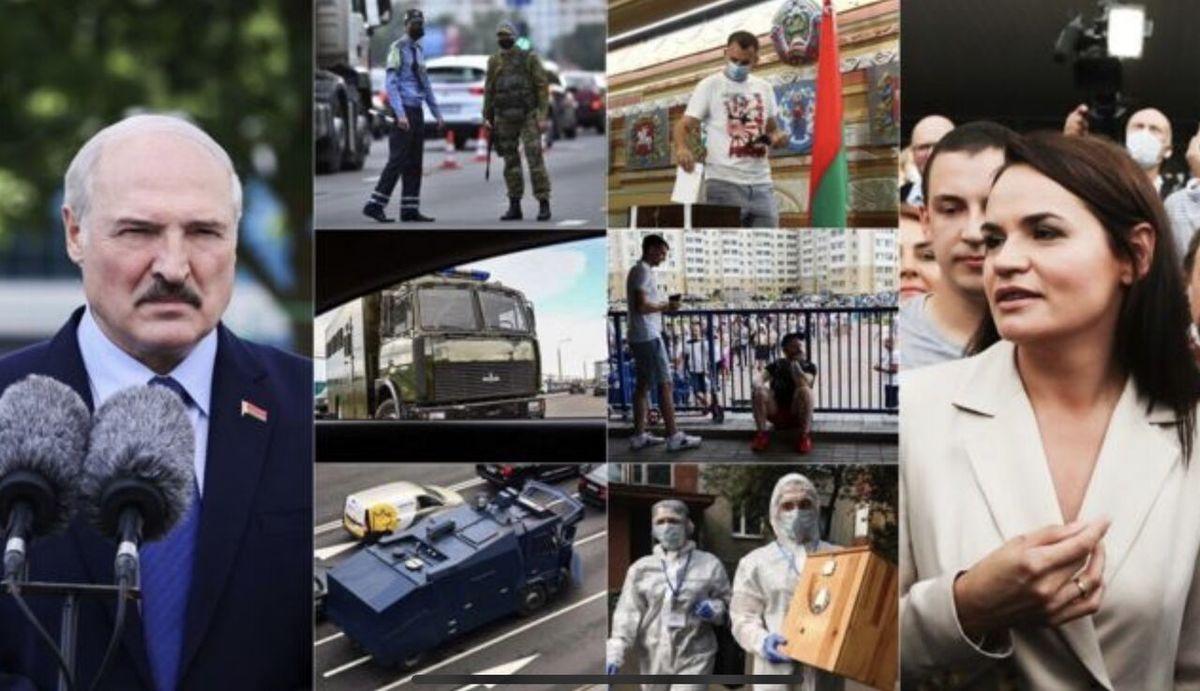 با اعلام پیروزی لوکاشنکو مخالفان به خیابان ها آمدند