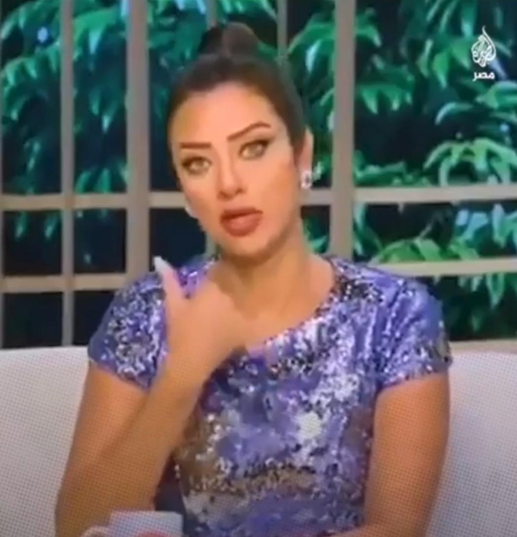 حمایت مصری ها از مجری تلویزیون + ویدئو