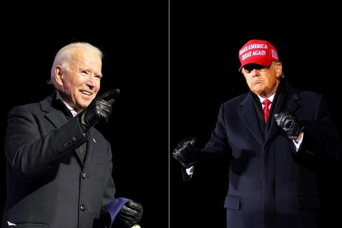 انتخابات آمریکا  |  افزایش اختلاف آرای جو بایدن و ترامپ
