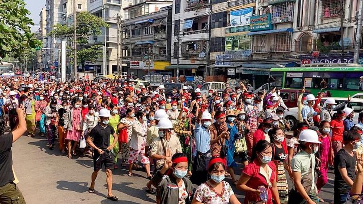 کودتا   تظاهرات در بزرگترین شهر میانمار