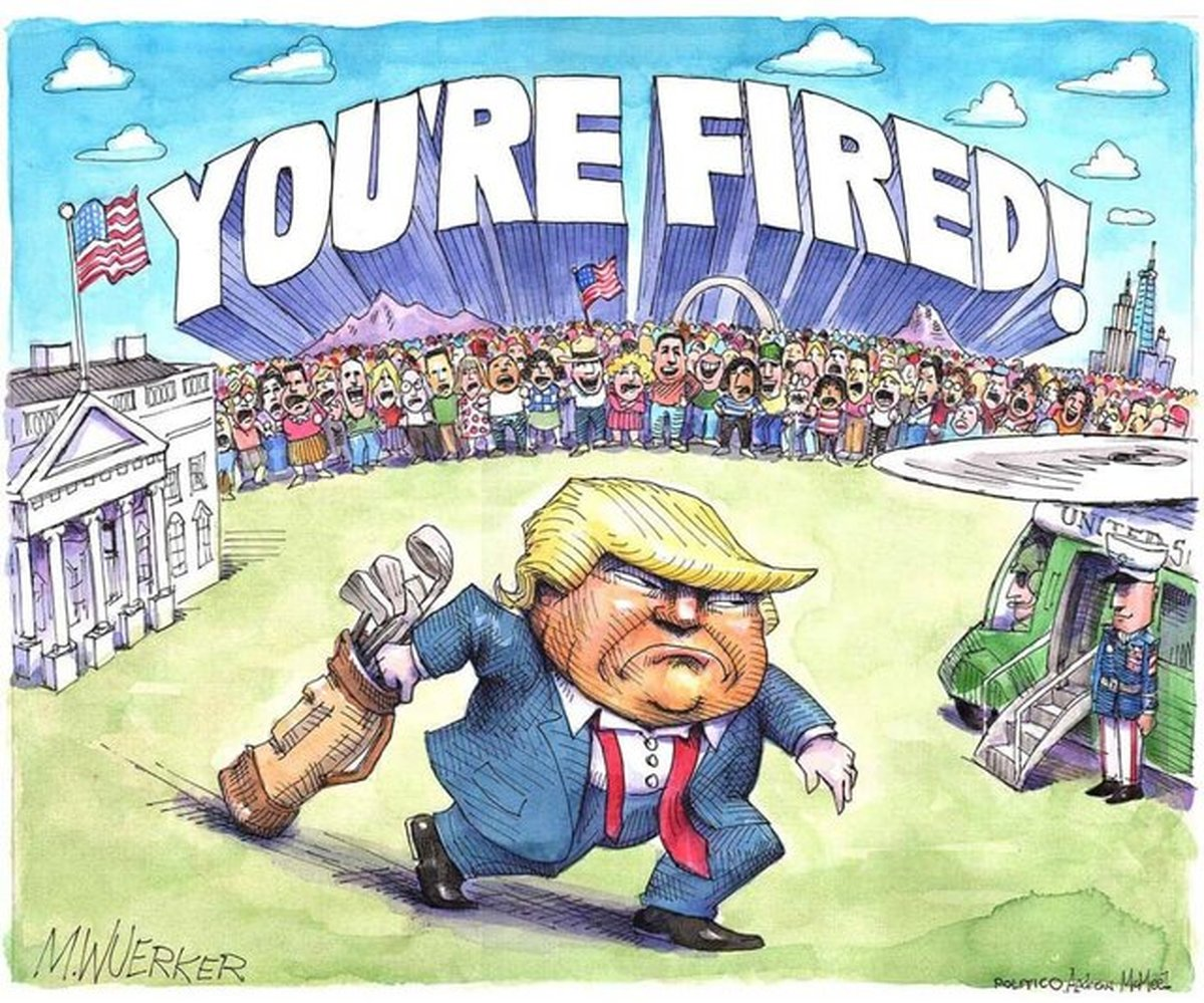 خیزش کاریکاتوریستها علیه ترامپ