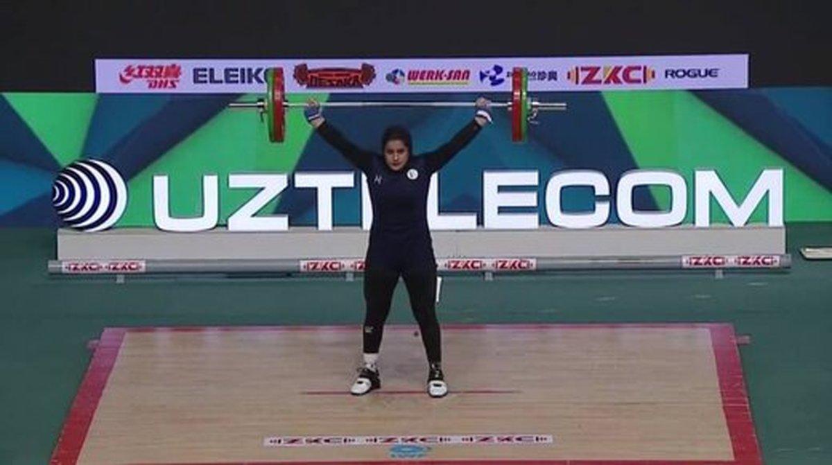 اولین مدال وزنه برداری بانوان ایران