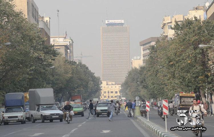 اُزُن هوای تهران را آلوده کرد
