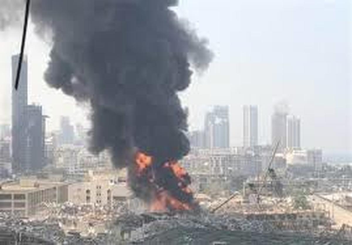 اسکله بیروت   |   علت آتش سوزی جدیدناشی از اشتباه فنی یکی از کارگران بوده