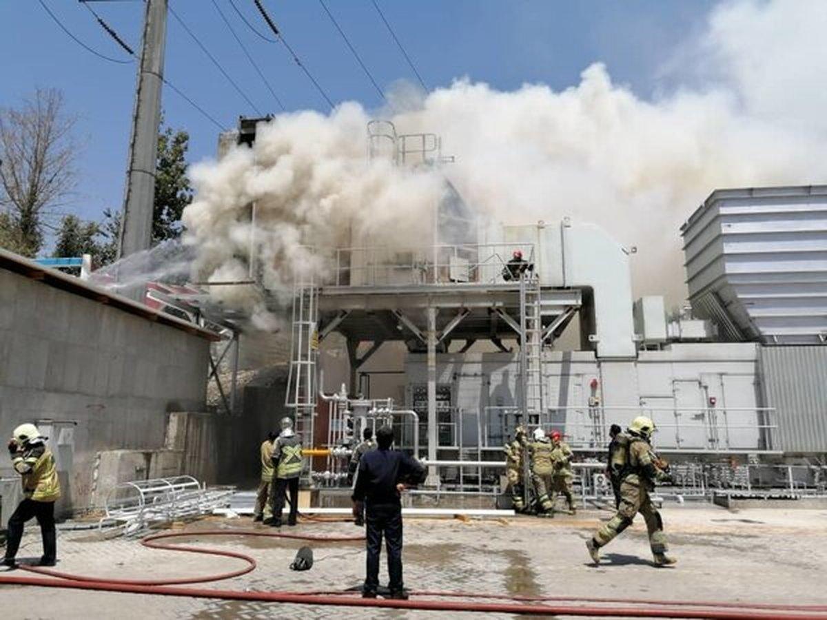 حادثه |  اعلام جزییات آتش سوزی نیروگاه طرشت