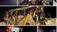 یک نفر در پی سقوط بهمن بر سرنشینان اتوبوس فوت کرد+عکس| سرنشینان اتوبوس گرفتار در سقوط بهمن نجات یافتند