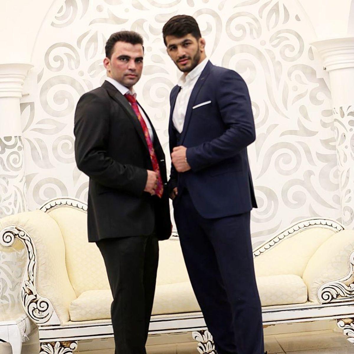 تیپ لاکچری حسن یزدانی در عروسی برادرش | عکس حسن یزدانی