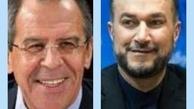 رایزنی تلفنی وزیران امور خارجه ایران و روسیه در پی گفت وگوهای برجامی اخیر تهران و اتحادیه اروپا