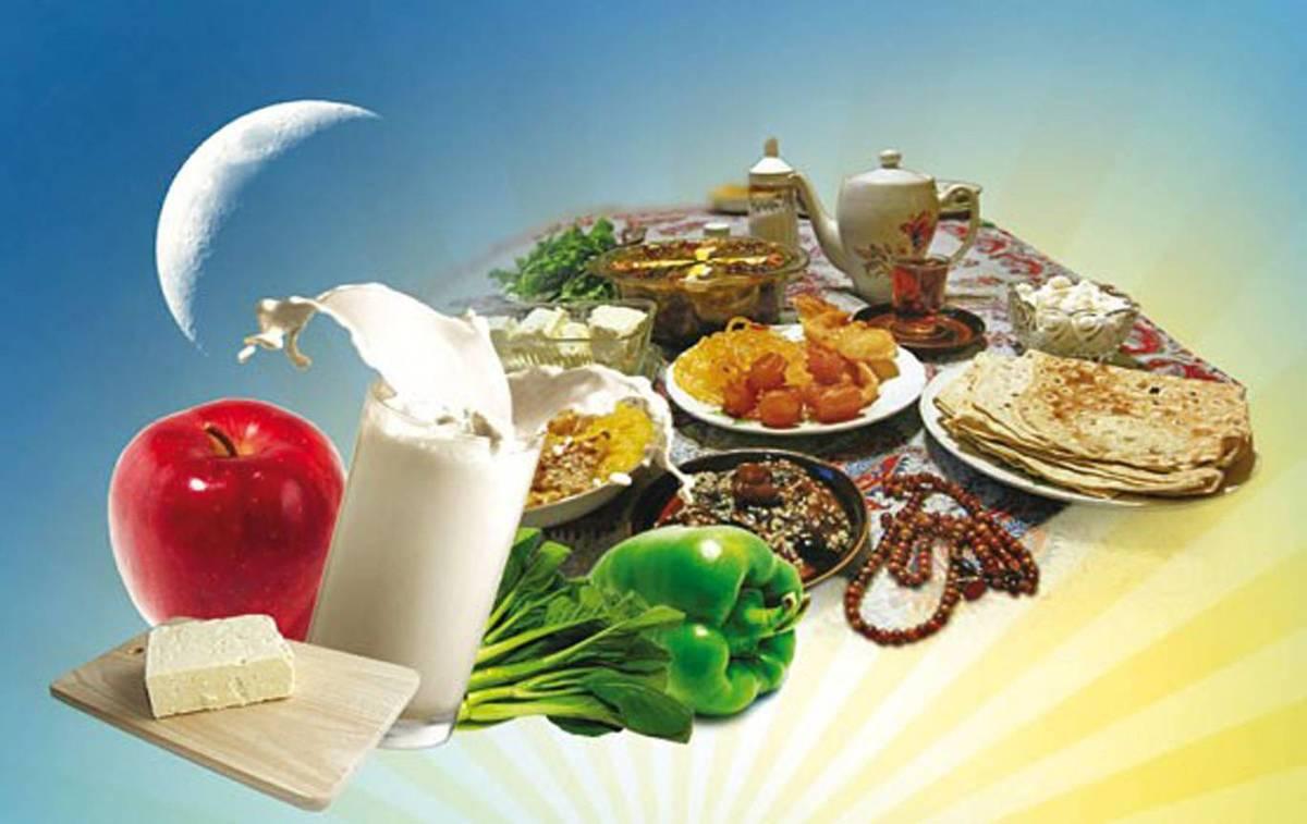 تغذیه مناسب در ماه رمضان