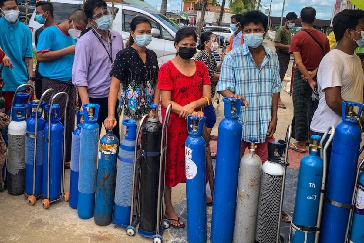 حکومت نظامی در میانمار اکسیژن احتکار میکند
