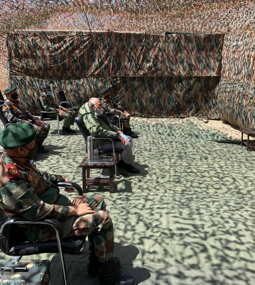 سفرنخست وزیر هند به مناطق مرزی مشترک با چین +عکس