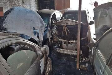 اجاق خوراک پزی ۵ خودرو را به آتش کشید!
