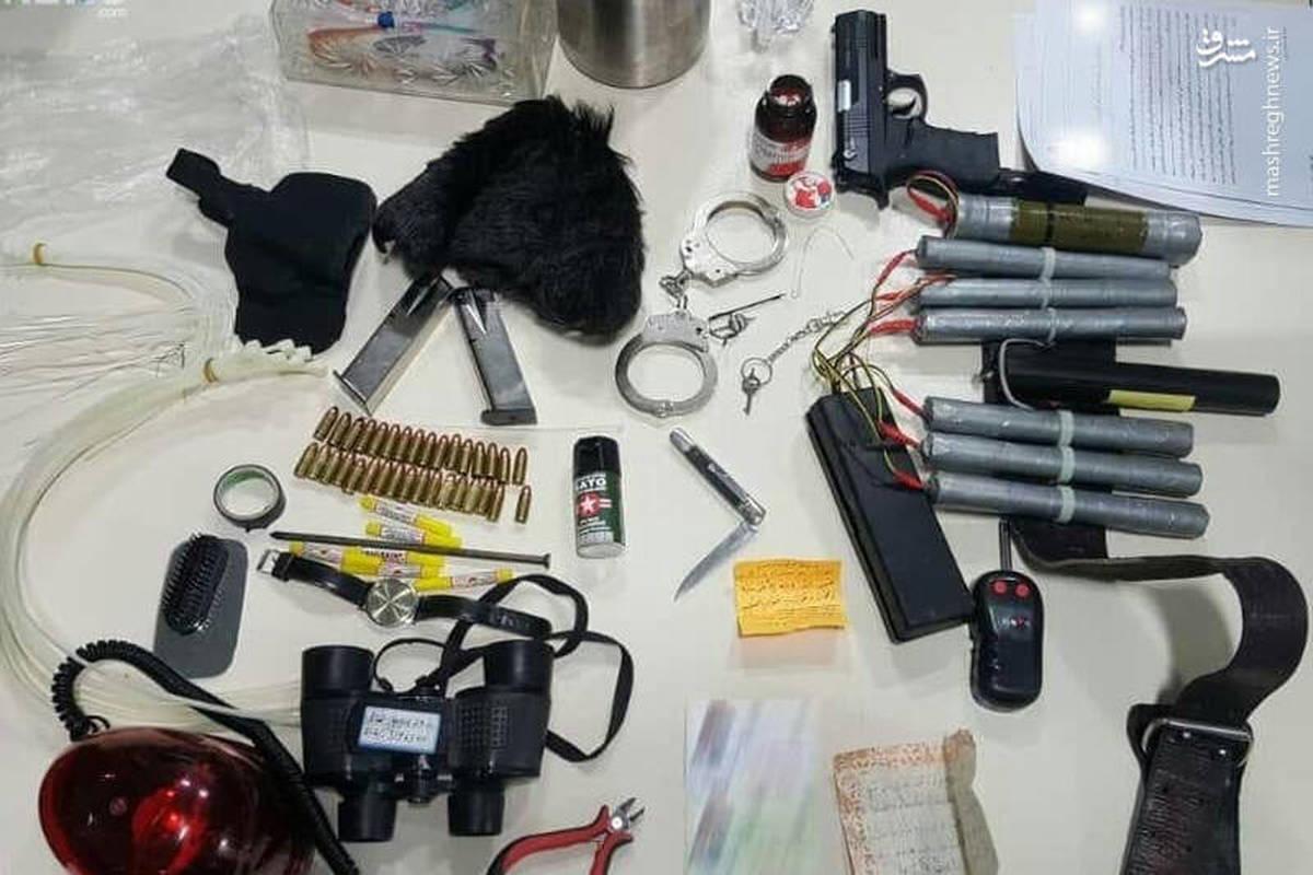 تجهیزات کشف شده از فرد تروریست در عوارضی تهران + عکس