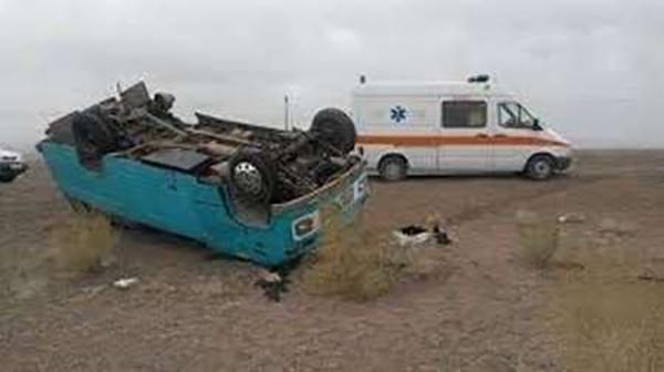 حادثه  |  واژگونی مینی بوسی  بیش از ١٥مصدوم برجای گذاشت.