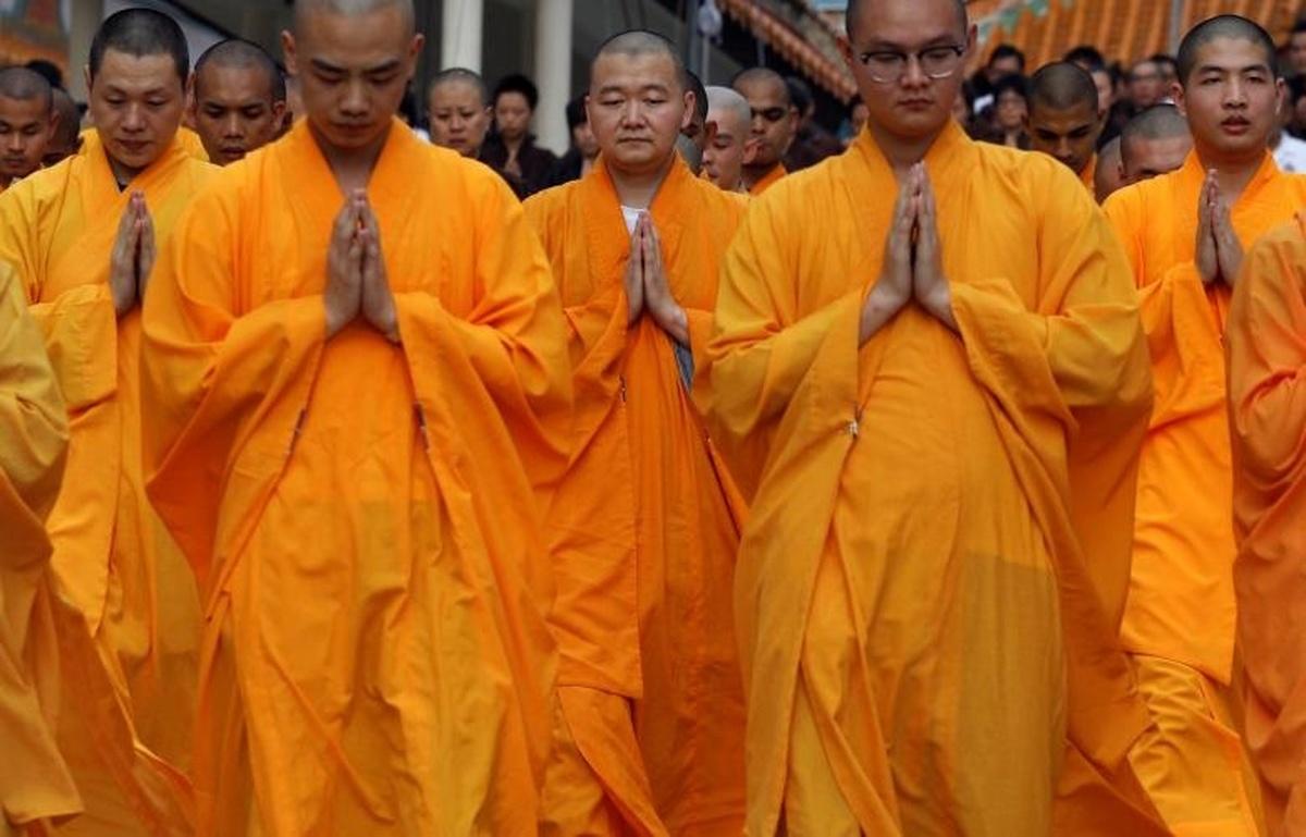 اعتراض بودایان میانمار به خشونتها