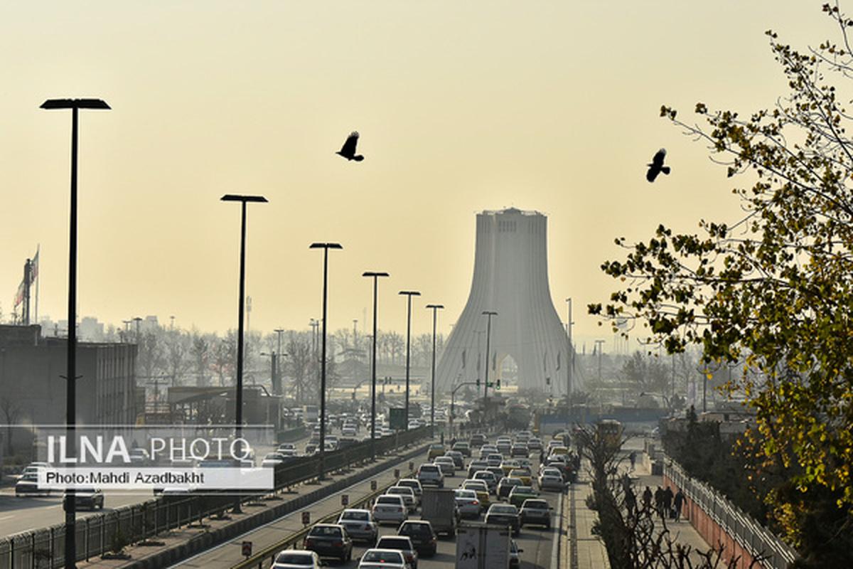 هوای تهران در آستانه آلودگی قرار گرفت