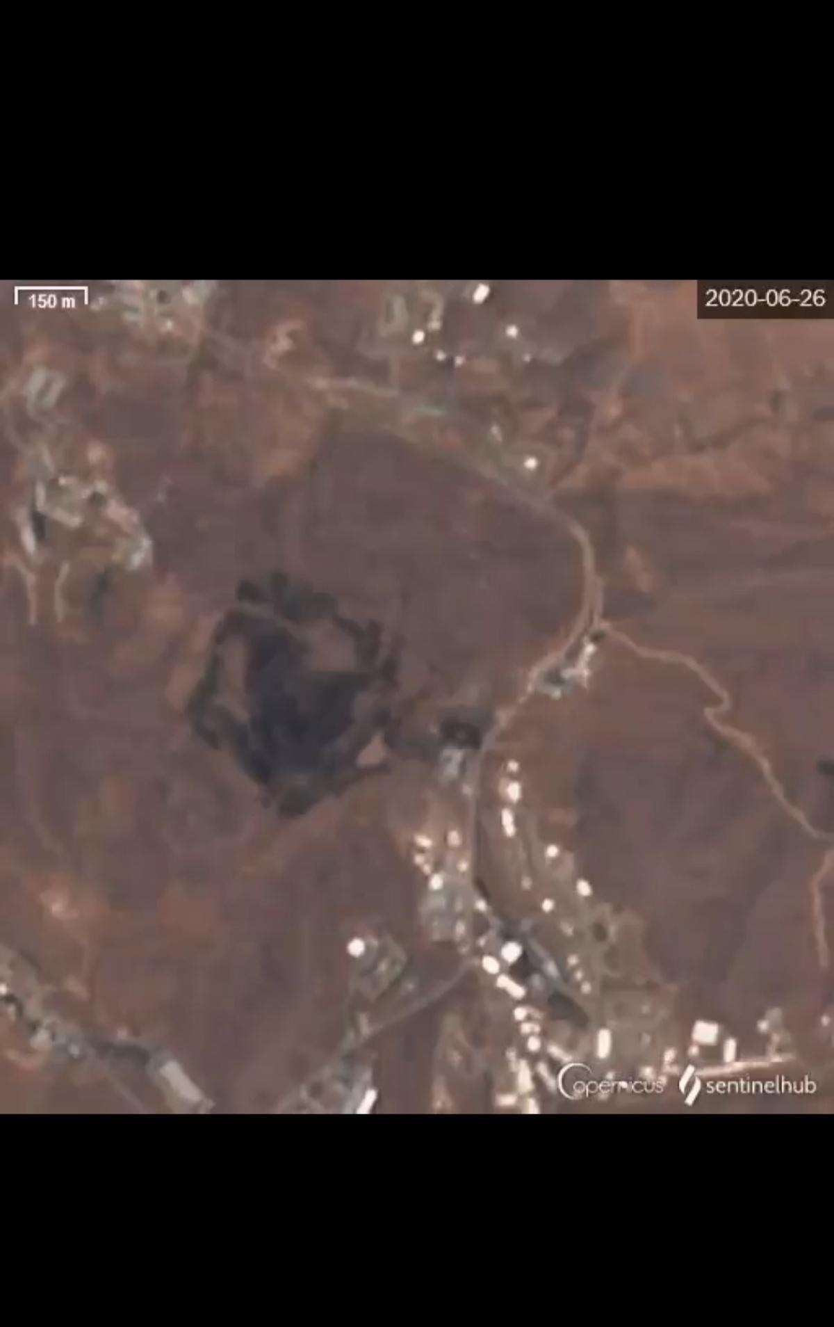 عکس ماهوارهای از وسعت انفجار قبل وبعد از حادثه پارچین + ویدئو