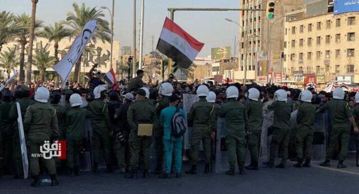 یک کشته و چند زخمی در پی درگیری نیروهای امنیتی و تظاهرکنندگان عراقی در بغداد
