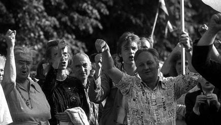 اخبار جهان ۳۰ سال از تشکیل زنجیره انسانی در کشورهای حوزه دریای بالتیک گذشت