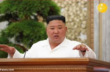 رهبر کره شمالی در نشست حزب حاکم +عکس