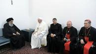 دفتر آیتالله سیستانی بیانیه داد| دیدار آیت الله سیستانی با پاپ فرانسیس رهبر کاتولیک های جهان