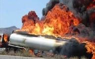 حادثه   |   تصادف مرگبار تانکر حامل سوخت و تریلی در جاده زیدون