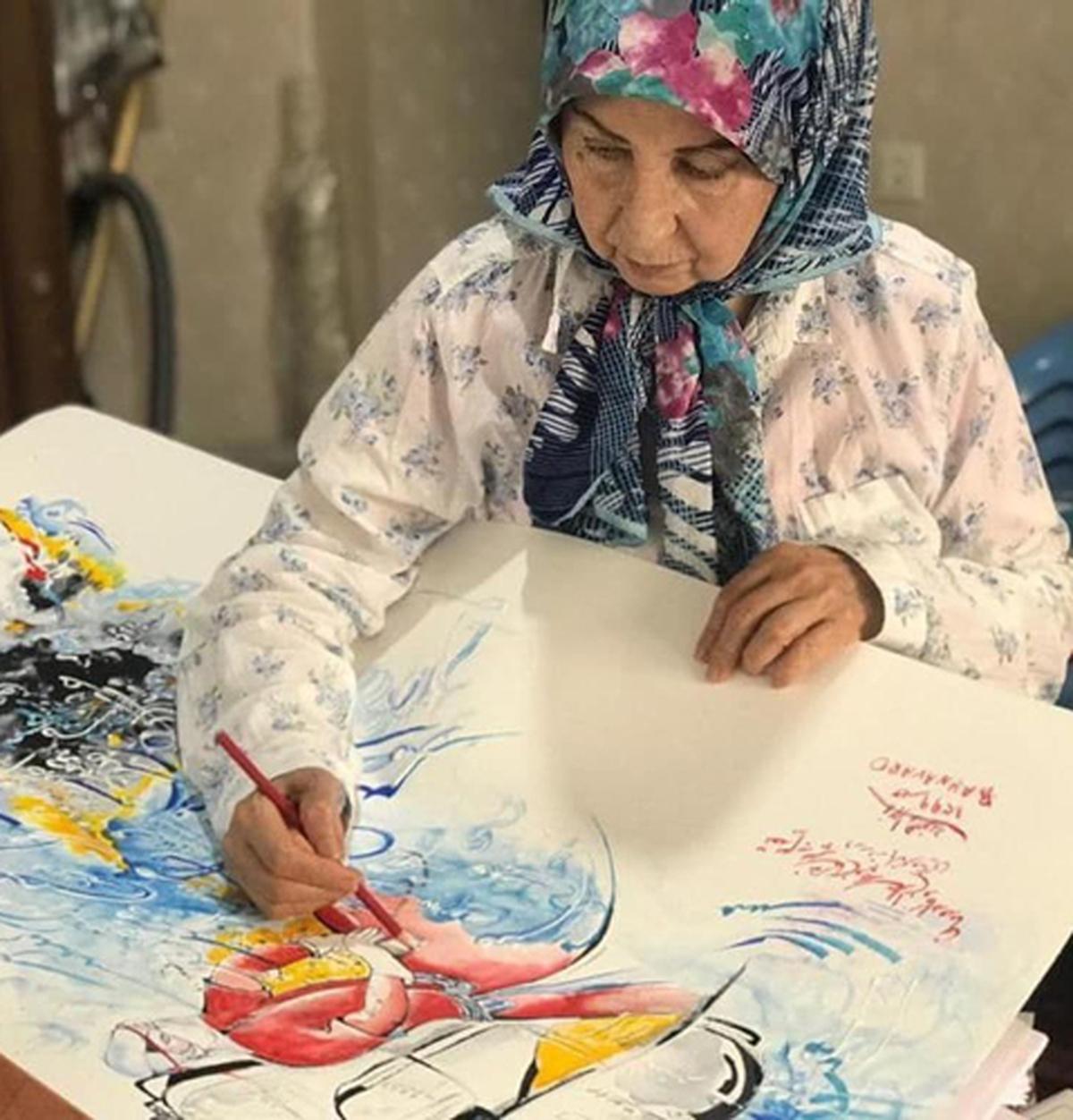 زهرا رهنورد بعد از 10 سال+ عکس  زهرا رهنورد در حال نقاشی کردن