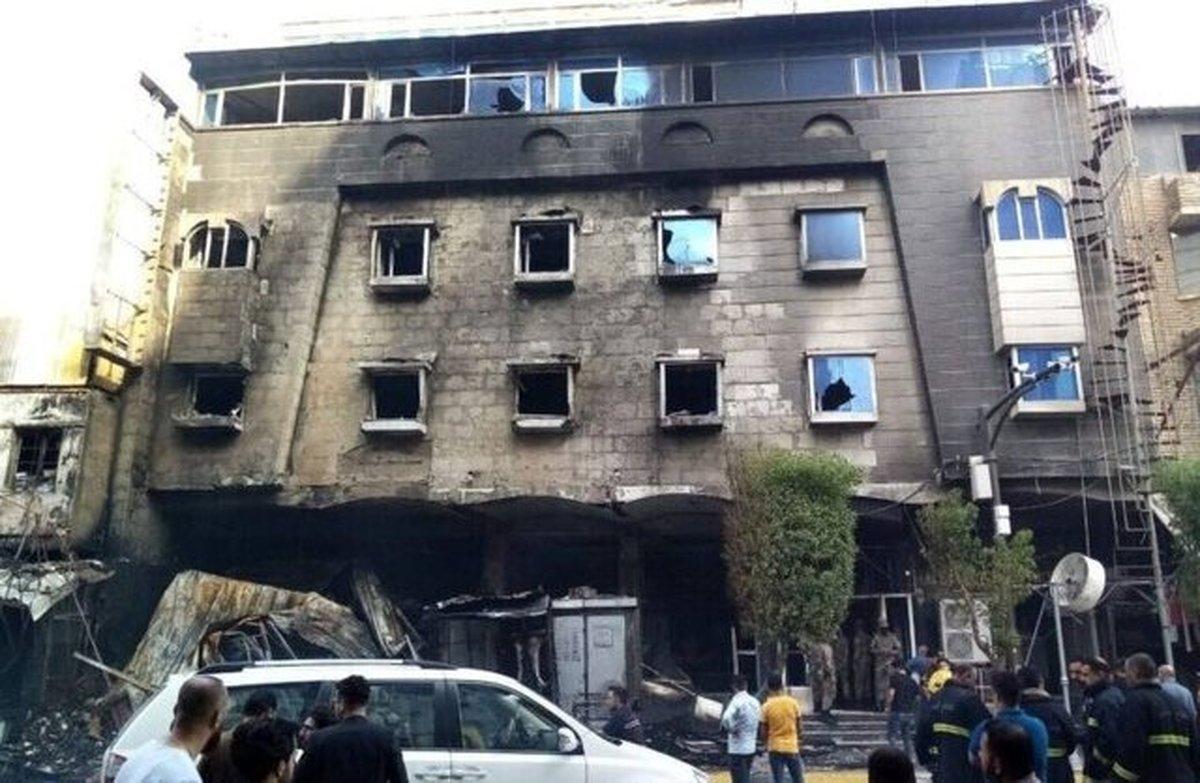 یک دختر بچه در آتش سوزی هتلی در کربلا کشته شد
