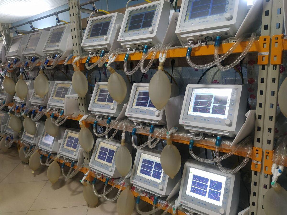 ایران به جمع پنج کشور تولید کننده ونتیلاتور جدید پیوست