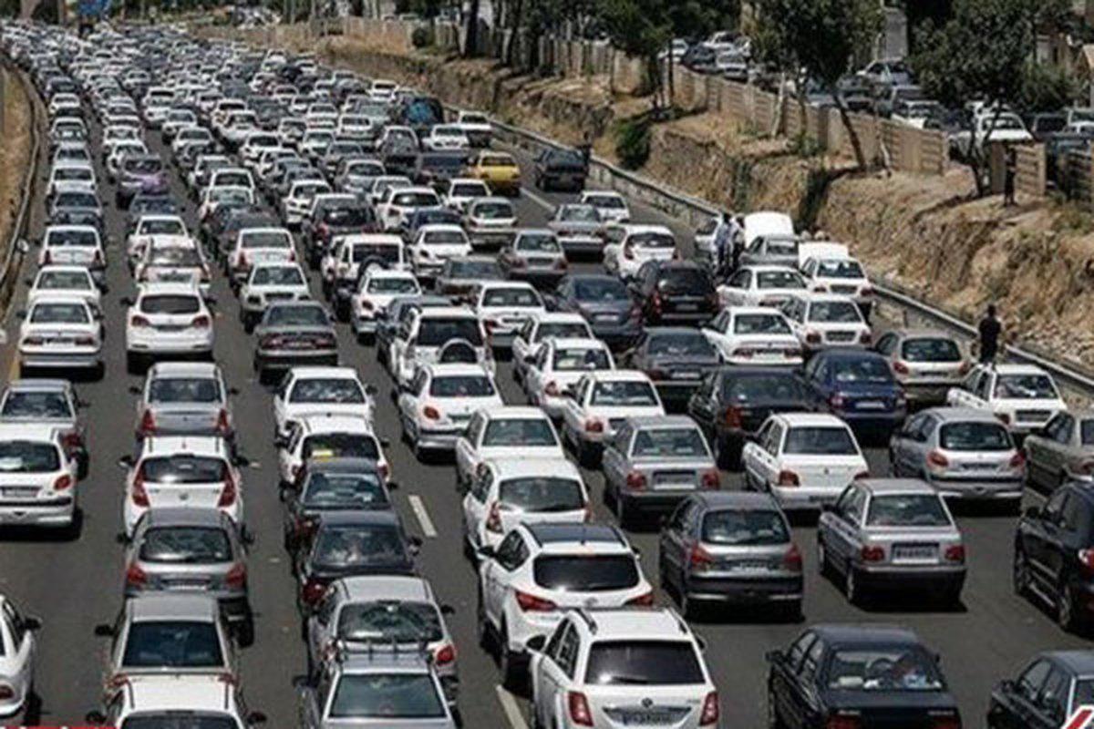 ترافیک سنگین در راههای استان تهران
