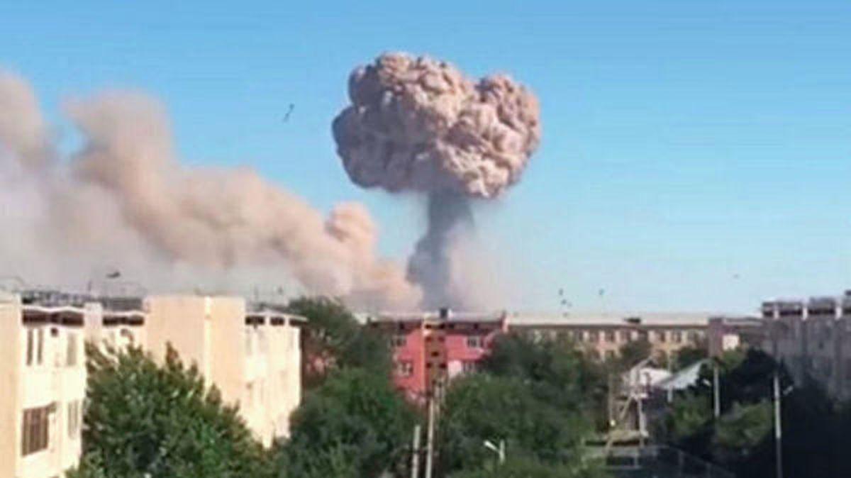 چهار نظامی در انفجار انبار مهمات قزاقستان کشته و ۶۶ نفر زخمی شدند