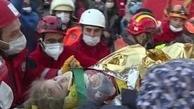 زلزله ازمیر ترکیه  |  نجات معجزه آسای ۲ دختربچه از زیر آوار