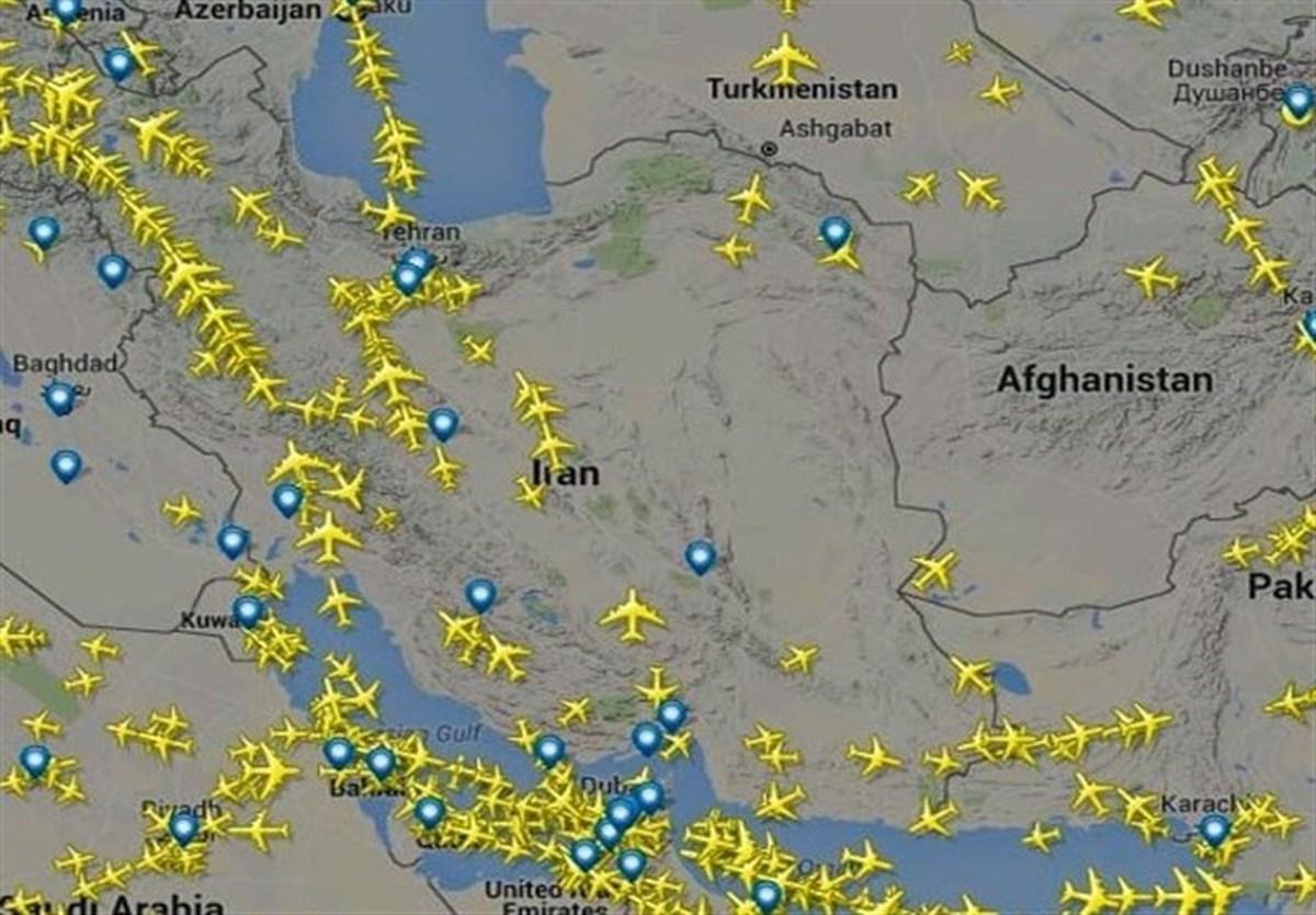 پروازهای عبوری از ایران ۷۲ درصد کاهش یافت
