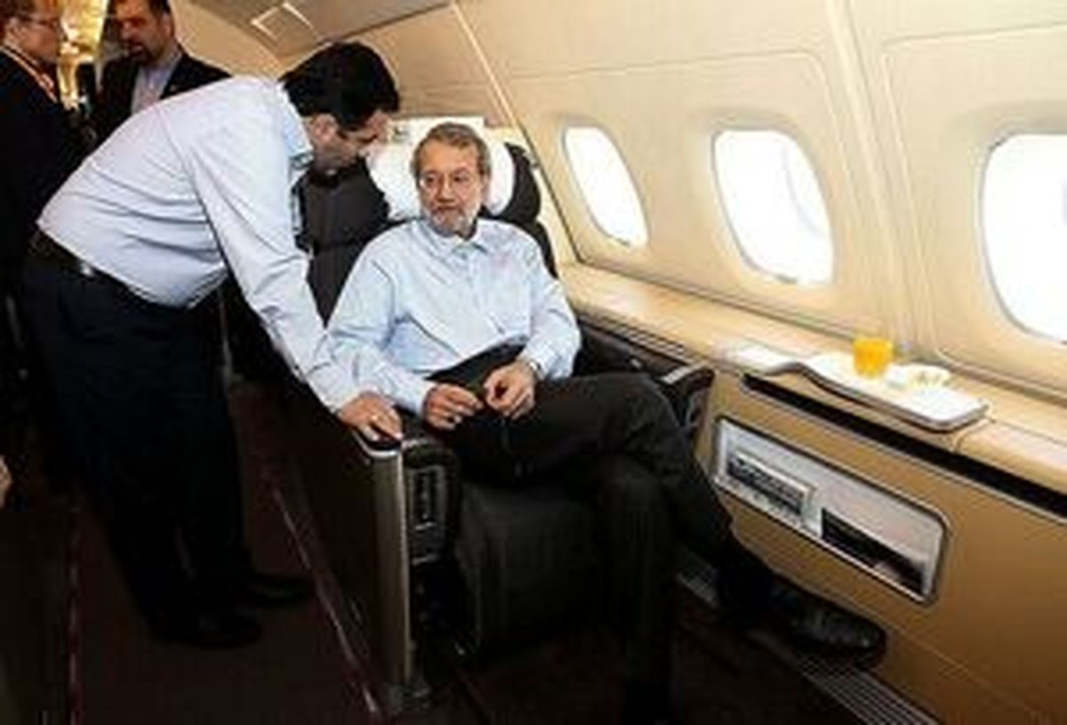 پرواز پر هزینه لاریجانی به بلگراد
